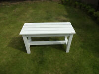 Small Outdoor Painted Wooden Garden bench - Shabby Chic