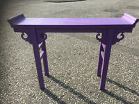 Oriental Purple Console Table