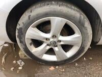 Vauxhall Astra J. Alloy wheel single replacement set. Ask inc tyre. May Px