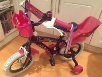 Girls pink bike 3+