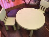 Kids table.