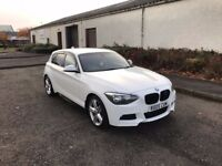 2012 12 Reg BMW 1 Series 118d M Sport White, Stunning Car in Immaculate Condition, FSH
