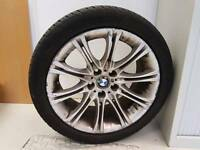 Genuine set of BMW MV2 Alloys 5 x 120 pcd tyres in great condition