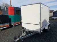 BRAND NEW MODEL 3M x 150M x 180M DOUBLE AXLE BOX TRAILER WITH A RAMP 2700KG