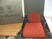 Gieves & Hawkes Wool and Cashmere Hat and Scarf Set - Ready Gift Wrapped - £290 RRP