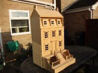 WOODEN SECTIONAL DOLLS HOUSE