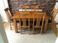 Dining Room Table (Extendable) and Six Chairs
