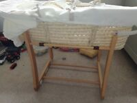Second hand Mamas & Papas moses basket