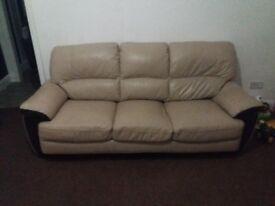 Crean leather 3 seater sofa