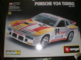 Burago 1/25 Porsche 924 Turbo Great Condition Sealed Metal Kit Very Rare NOT airfix tamiya