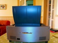 NEC short throw projector WT610 model and huge roll down screen