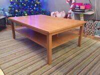 Ikea Skoghall coffee table Oak veneer