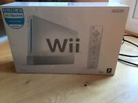 ** Nintendo Wii, 2 controllers, Wii Fit, Mario Kart with Wheel, PES2008 and Wii Play £60 ono **