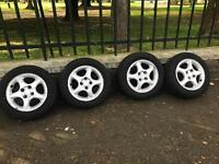 Allow wheels + new tyres for sale.