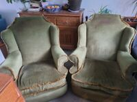 Armchairs/ will need reupholstering