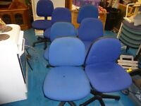 X7 BLUE OFFICE CHAIRS