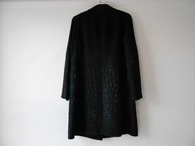 Classic Black Ladies Coat By Georges Rech - Size 16