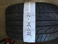 325 30 21 part worn BMW X5 tyre ** FREE FITTING AND BALANCING**