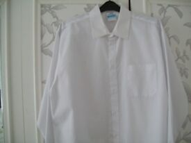 """Boys white school shirts size 16"""" Bought from John Lewis"""