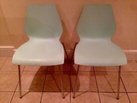 Kartell 'Maui' chairs x 2 PALE BLUE