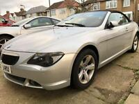 BMW 630i convertible auto 2007 one lady owner,fsh immaculate example p-ex welcome AA/rac welcome
