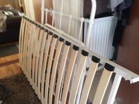 Single bed frame , white metal