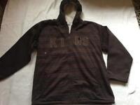 Men's fleece jacket brown Sz M used £2 good condition