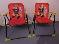 2 X Fireman Sam foldaway chairs
