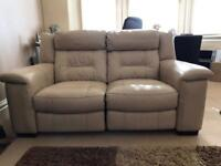 100% real leather electric reclining sofas