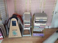 Carpet tombola. Carpet display stands. Shop display. Tombola. Carpet spinner.