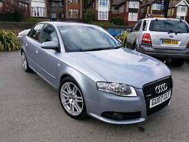 2007 AUDI A4 2.0 TDI 170BHP S LINE SPECIAL EDITION LEATHERS BOSE LONG MOT HPI CLEAR
