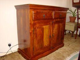 Antique Solid Hardwood Sideboard