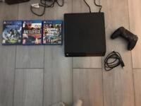 Sony PS4 1TB with 3 games and one controller
