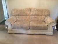 Beige 2 seater and 3 seater Sofas