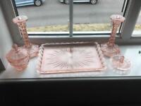 Dressing table glassware