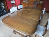 Antique Oak Extendable Dining Table - £300 ONO