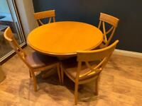 Maple extending dining table and 4 chairs - Rossmore by Sherry Bros