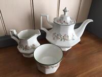 'Eternal Beau' Teapot, Sugar Bowl & Milk Jug