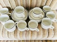 Catering quality Small coffee cups saucers 40 available a condition. Clubs restraunts will split