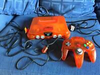 Orange ltd Edition funtastic n64 Nintendo 64 Console