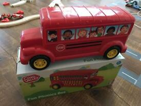 Phonics Bus Toy alphabet