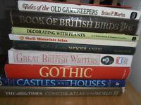 Nine large-format books hardback classics+Instant Tin Whistle Scottish
