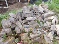Natural stone about 100 pieces , must weigh about three tons.