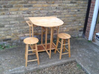 Breakfast Dinner bar (Table) and 2 stools (Chairs) Stain Alone ##FREE LOCAL DELIVERY##
