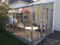 Metal lean to Greenhouse (8ft x 12ft) (2.5m x 3.75)