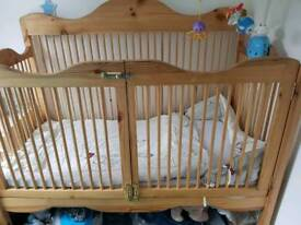 STUNNING!! Cot/cotbed hand made solid pine