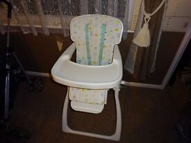 baby high chair for up to 3 years.