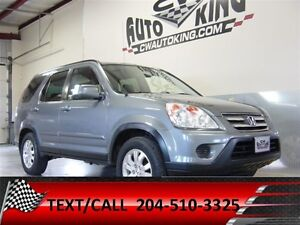 2005 Honda CR-V EX-L / Heated Leather / Sunroof / Laoded All Whe
