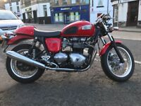 Triumph Thruxton 900 Red with extras 2008