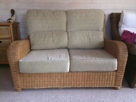 Conservatory Wicker Sofa, Chair & Footstool
